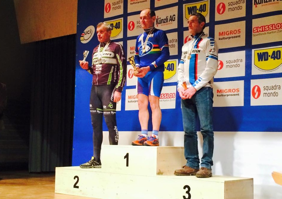 .Longauer took silver in World Cyclocross Masters Championship.