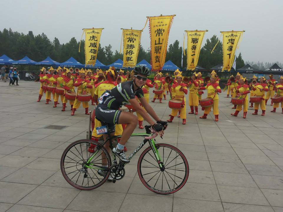 .CK BB riders started cyclocross season in China.